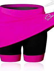 cheap -SPAKCT Women's Cycling Skirt Bike Shorts / Skirt / Padded Shorts / Chamois 3D Pad, Breathable, Reduces Chafing Solid Colored, Patchwork,