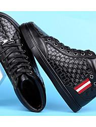 cheap -Men's Cowhide Winter Comfort Sneakers Black