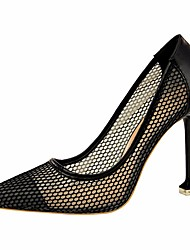 cheap -Women's Shoes Lace Spring / Fall Comfort / Basic Pump Heels Stiletto Heel White / Black / Red