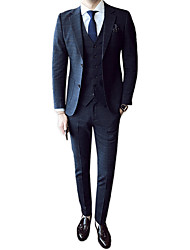 cheap -Men's Party Work Business Formal Slim Suits-Houndstooth Notch Lapel / Long Sleeve
