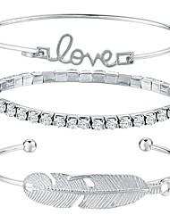 abordables -Bracelets Rigides / Manchettes Bracelets - Nœud Mode Bracelet Argent Pour Quotidien / Plein Air / 3pcs