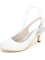 economico -Per donna Scarpe Raso Estate Decolleté scarpe da sposa A stiletto Punta tonda Blu / Champagne / Avorio