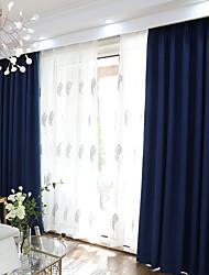 Недорогие -затемненные шторы шторы две панели спальня однотонная полиэфирная смесь окрашенная пряжа