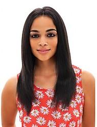 Недорогие -Не подвергавшиеся окрашиванию 360 Лобовой Парик Бразильские волосы Прямой Парик Средняя часть 150% С детскими волосами / Женский / Природные волосы Нейтральный Жен. Длинные Конскиехвостики