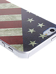 cheap -Case For iPhone 5 / Apple iPhone 5 Case Pattern Back Cover Flag Hard PC for iPhone SE / 5s / iPhone 5