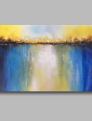 cheap -Oil Painting Hand Painted - Abstract Landscape Comtemporary Canvas