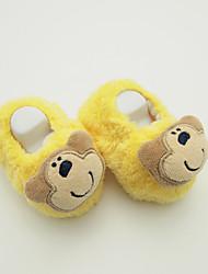 baratos -Para Meninos Sapatos Microfibra Outono & inverno Pom Pom Mocassins e Slip-Ons Pom Pom para Bebê Ao ar livre Laranja Khaki