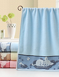 Недорогие -Свежий стиль Полотенца для мытья, Мультипликация Высшее качество Полиэстер / хлопок Чистый хлопок Жаккардовое плетение 1pcs