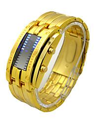 Недорогие -Муж. Спортивные часы электронные часы С механизмом Ecology-Drive Нержавеющая сталь Черный / Серебристый металл / Золотистый 30 m Защита от влаги Секундомер Творчество Цифровой Роскошь Винтаж -