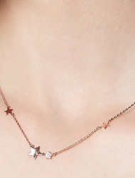 cheap -Women's Pendant Necklace / Chain Necklace  -  18K Gold Plated, S925 Sterling Silver Star Simple Rose Gold 40 cm Necklace For Daily, Festival