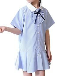 economico -Bambino Da ragazza A strisce Manica corta Vestito