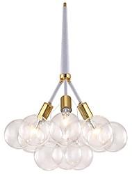 Недорогие -JLYLITE 3-Light кластер Люстры и лампы Рассеянное освещение Электропокрытие Металл Стекло 110-120Вольт / 220-240Вольт Лампочки не включены / SAA / FCC / VDE / E26 / E27
