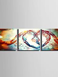 abordables -Imprimé Impression sur Toile - Abstrait Forme Moderne
