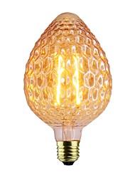 abordables -1pc 2W 140-220lm E26 / E27 Ampoules à Filament LED A80 2 Perles LED COB Intensité Réglable Blanc Chaud 220-240V