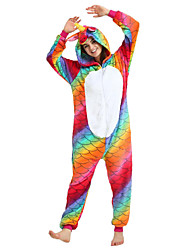 abordables -Adulte Pyjamas Kigurumi Cheval volant Combinaison de Pyjamas Flanelle Arc-en-ciel Cosplay Pour Homme et Femme Pyjamas Animale Dessin animé Fête / Célébration Les costumes