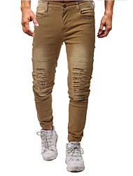 cheap -Men's Basic Jeans Pants - Solid Colored