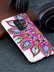 Недорогие -Кейс для Назначение SSamsung Galaxy S9 Plus / S9 С узором Кейс на заднюю панель Цветы Твердый ПК для S9 / S9 Plus / S8 Plus