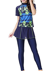 cheap -Women's Plus Size Halter Neck One-piece - Geometric Print Board Shorts