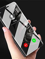Недорогие -Кейс для Назначение Xiaomi Mi 6X / Mi 5X со стендом / Покрытие / Зеркальная поверхность Чехол Однотонный Твердый ПК для Xiaomi Mi Mix 2 /