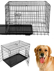 cheap -Dogs Houses Pet Baskets Portable Foldable Black For Pets