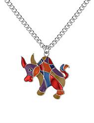Недорогие -Ожерелья с подвесками - Животный принт Мода, Цветной Золотой, Серебряный 62 cm Ожерелье Бижутерия Назначение Повседневные