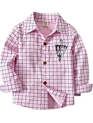 economico -Bambino Bambino (1-4 anni) Da ragazzo Fantasia geometrica Monocolore Manica lunga Camicia