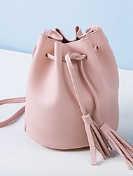 cheap -Women's Bags PU Shoulder Bag Tassel Blushing Pink