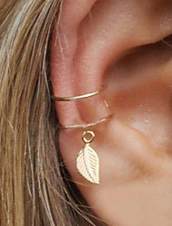 cheap -Women's Geometric Clip Earrings / Ear Cuff / One Earring - Leaf Statement Gold / Silver For Evening Party / Street