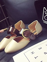 povoljno -Žene Cipele PU Ljeto Udobne cipele Ravne cipele Niska potpetica za Vanjski Bež / Deva