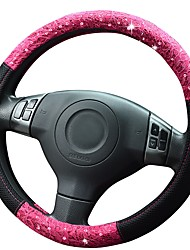 cheap -Steering Wheel Covers Poly urethane 38cm Blushing Pink / Green For universal Universal