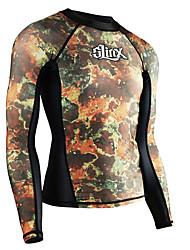 abordables -SLINX Homme Anti Irritation Pare-vent, SPF50, Protection UV contre le soleil Coolmax® / Térylène / Lycra Manches Longues Maillots de Bain Tenues de plage Tee-shirts anti-UV, tops thermiques / Hauts