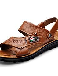 povoljno -Muškarci Cipele Koža Ljeto Udobne cipele Sandale Svjetlosmeđ / Tamno smeđa
