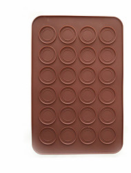 abordables -Herramientas de cocina Silicona Portátil Molde para hornear Pastel / Galleta / Chocolate 1pc