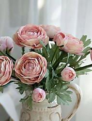 baratos -Flores artificiais 1 Ramo Europeu Rosas Flor de Mesa