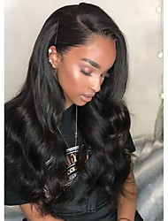cheap -Synthetic Wig / Synthetic Lace Front Wig Wavy Side Part 150% Density Synthetic Hair Heat Resistant / Natural Hairline / African American Wig Black Wig Women's Long Lace Front Wig / Yes