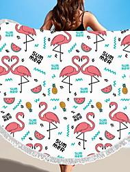 Недорогие -Высшее качество Пляжное полотенце, Геометрический принт / Животное Полиэстер / Хлопок 1 pcs