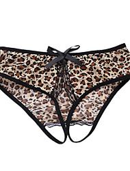 baratos -Mulheres Sem Costura Leopardo Cintura Baixa