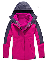 cheap -Women's Hiking Jacket Outdoor Autumn / Fall / Winter Rain-Proof, Windproof, Waterproof Zipper Top Double Sliders / Single Slider Skiing /