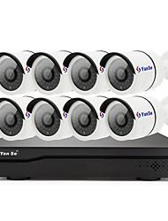 Недорогие -yanse h.265 8ch 1080p poe nvr комплект сетевая система безопасности видеозапись p2p детектор движения обнаружение ip камера набор