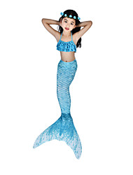 cheap -The Little Mermaid Swimwear / Bikini / Costume Women's Halloween / Carnival Festival / Holiday Halloween Costumes Ink Blue Vintage Mermaid and Trumpet Gown Slip / Bikini