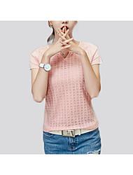 preiswerte -Damen Solide - Grundlegend T-shirt Gitter