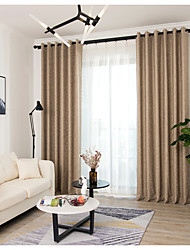 cheap -Curtains Drapes Living Room Stripe Chenille Yarn Dyed / Living Room / Curtains Drapes