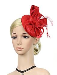 abordables -Gatsby le magnifique Rétro / Années 20 Costume Femme Bandeau Garçonne Coiffure Noir / Bleu / Rouge Vintage Cosplay Plume Sans Manches Déguisement d'Halloween