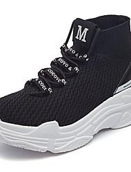 Недорогие -Универсальные Обувь Тюль Весна лето Удобная обувь Спортивная обувь Беговая обувь На плоской подошве Белый / Черный