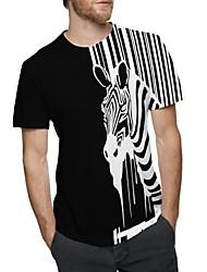 cheap -Men's Cute T-shirt - Animal Print