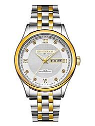 Недорогие -Муж. Модные часы Нарядные часы Японский Кварцевый Золотистый 30 m Защита от влаги Секундомер Аналоговый Роскошь Мода - Золотой Белый Черный Два года Срок службы батареи / Нержавеющая сталь