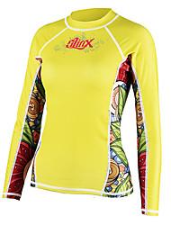 cheap -SLINX Women's Diving Rash Guard SPF50, UV Sun Protection, Quick Dry Tactel / Terylene / Lycra Long Sleeve Swimwear Beach Wear Sun Shirt / Top Swimming / Surfing / Beach