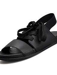 povoljno -Muškarci Cipele Sintetika, mikrofibra, PU / PU Ljeto Udobne cipele Sandale Obala / Crn