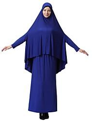 baratos -Mulheres Simples Básico Kaftan Abaya Vestido Sólido Médio