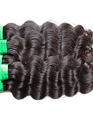 cheap -Indian Hair / Body Wave Wavy Virgin Human Hair / Remy Human Hair Human Hair Extensions 5 Bundles Human Hair Weaves New Arrival / Hot Sale / For Black Women Natural Black Human Hair Extensions Women's
